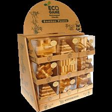 Bamboo Wood 18  puzzles (6 x 3) prepack -