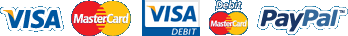 We accept Visa, Master Card and PayPal